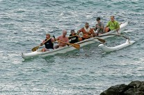 Some fairly tough Old Timers returning from a work out in the surf off Honolulu