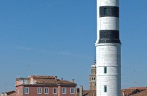 Lighthouse on island of Murano, Venice