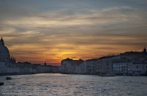 Sun setting over the Grand Canal, Venice
