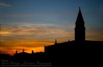 Sun setting over St Mark's Square, Venice