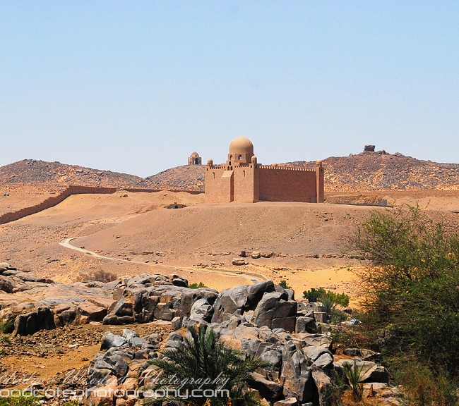 Mausoleum of the Aga Kahn, on the West bank of the Nile