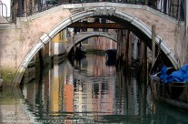 Small side canal in central Venice