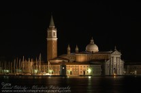 Night time view of Isola San Maggiore, Venice