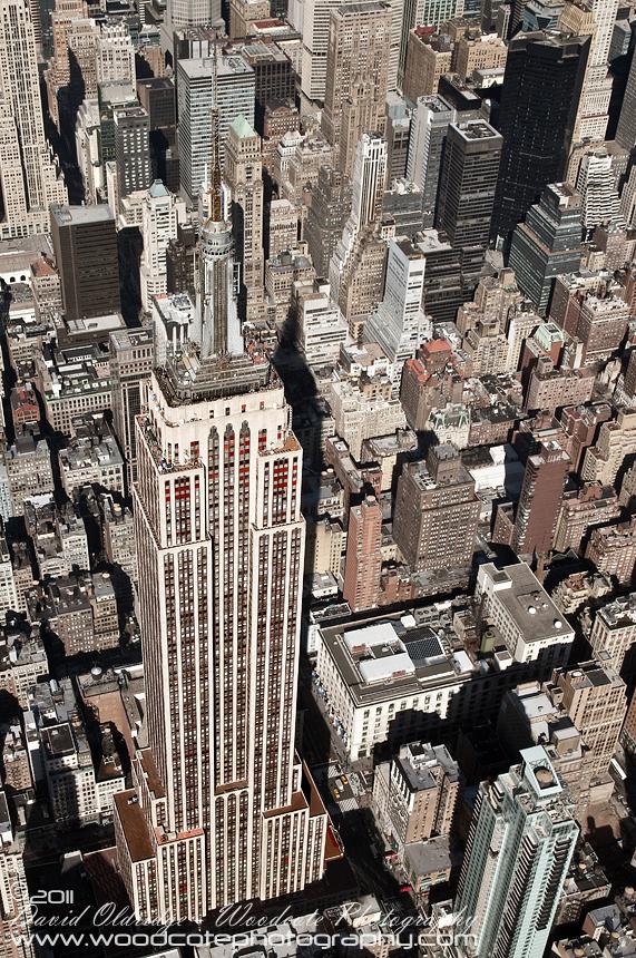 Empire State Building dominating its Manhattan neighbourhood