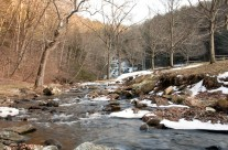Winter outflow from Kent Falls