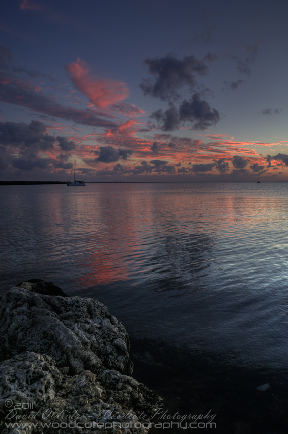 Dusk on the shore of Key Largo