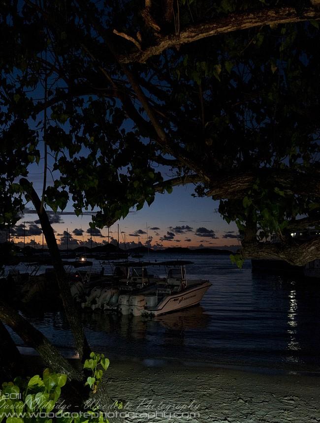Last Light in St John Harbour