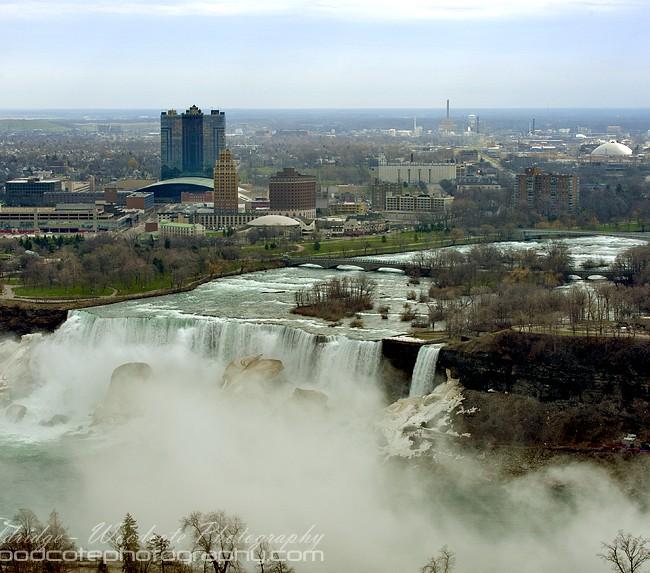 Aerial view of American Falls – Niagara