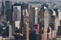 Skyscraper panorama of Lower Manhattan