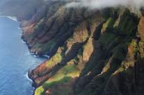 Aerial of Napali Coast, Kauai