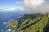 Napali Coast, Kauai – aerial view