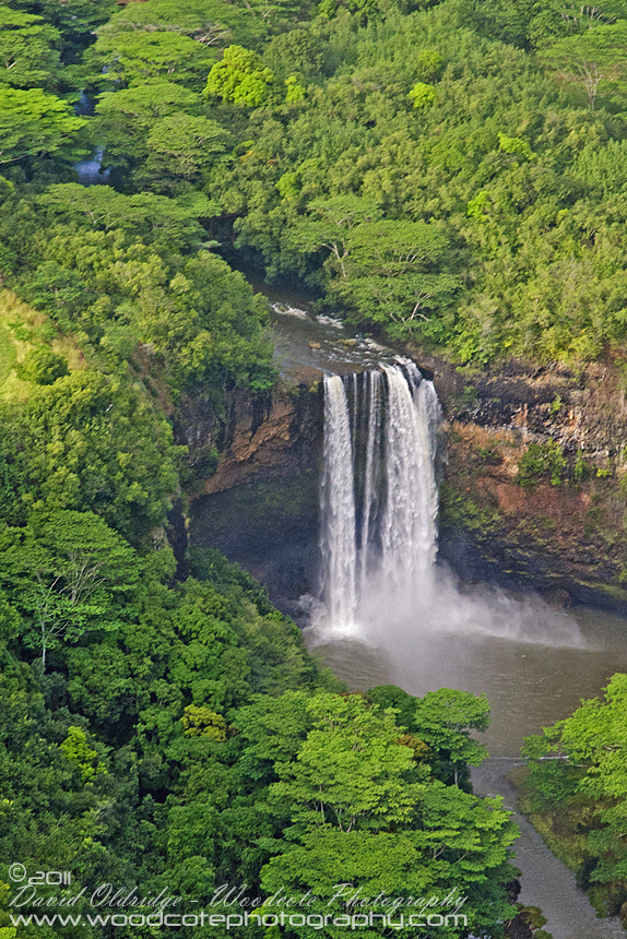 Aerial view of Kahili Falls, Kauai