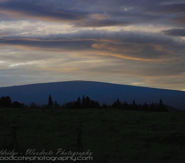 Sunset over Mauna Loa