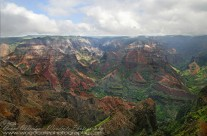 Breath taking view of Waimea Canyon, Kauai