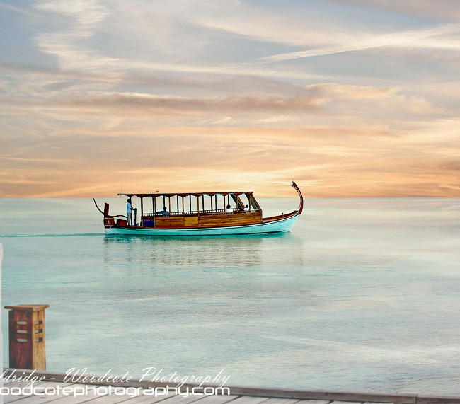 Traditional Dhoni off Rangali Island, Maldives
