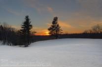 Sunset over Johnnycake Mountain