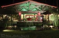 Entrance to Hana Maui hotel, at night