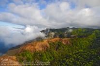 Aerial of South West shore of Kauai