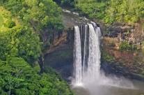 Aerial view of Kahili Falls, Kauai
