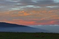 Sun setting over Mauna Loa