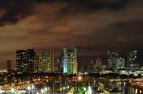 Night time at Waikiki Beach, Honolulu