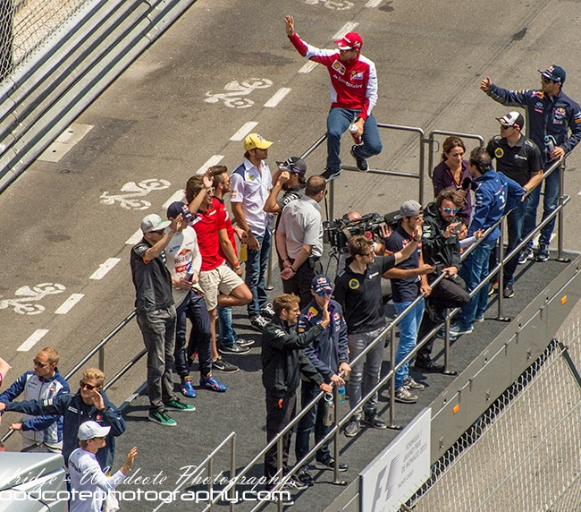 Pre-race F1 drivers parade – Monaco 2015